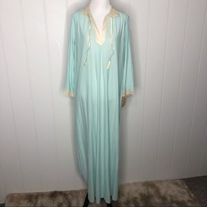 Vintage 70's Vanity Fair Blue Nightgown With TAGS